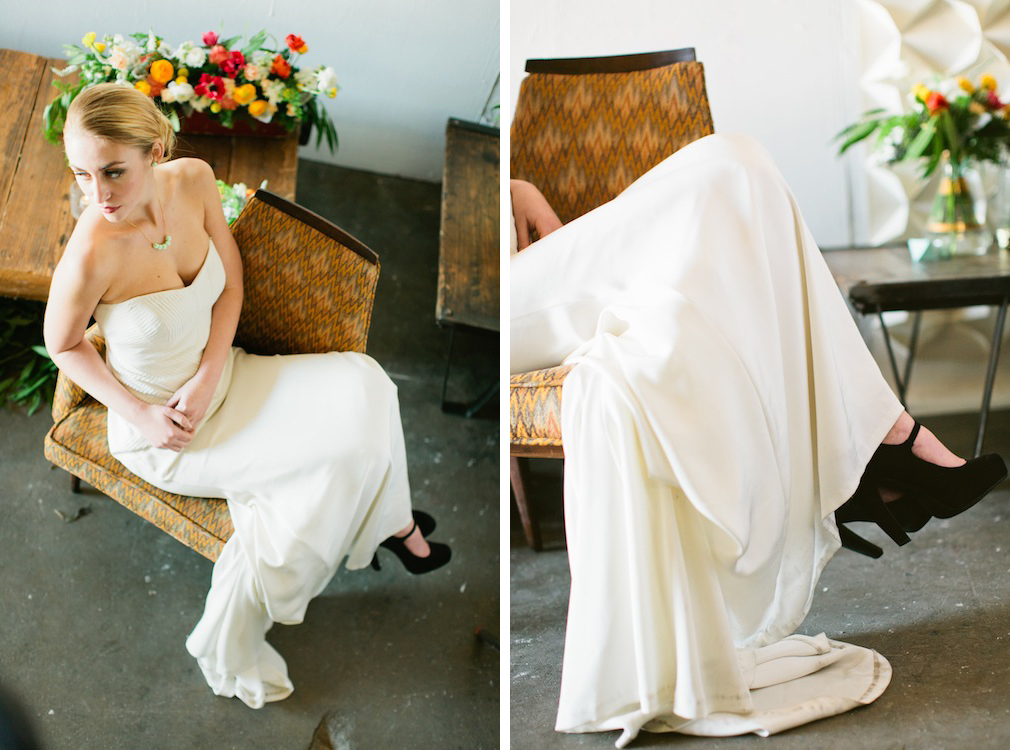 Modern Geometric LA Inspired Shoot with Little Cat Design Co., Scott Michael Photo, Found Vintage Rentals, + Primary Petals