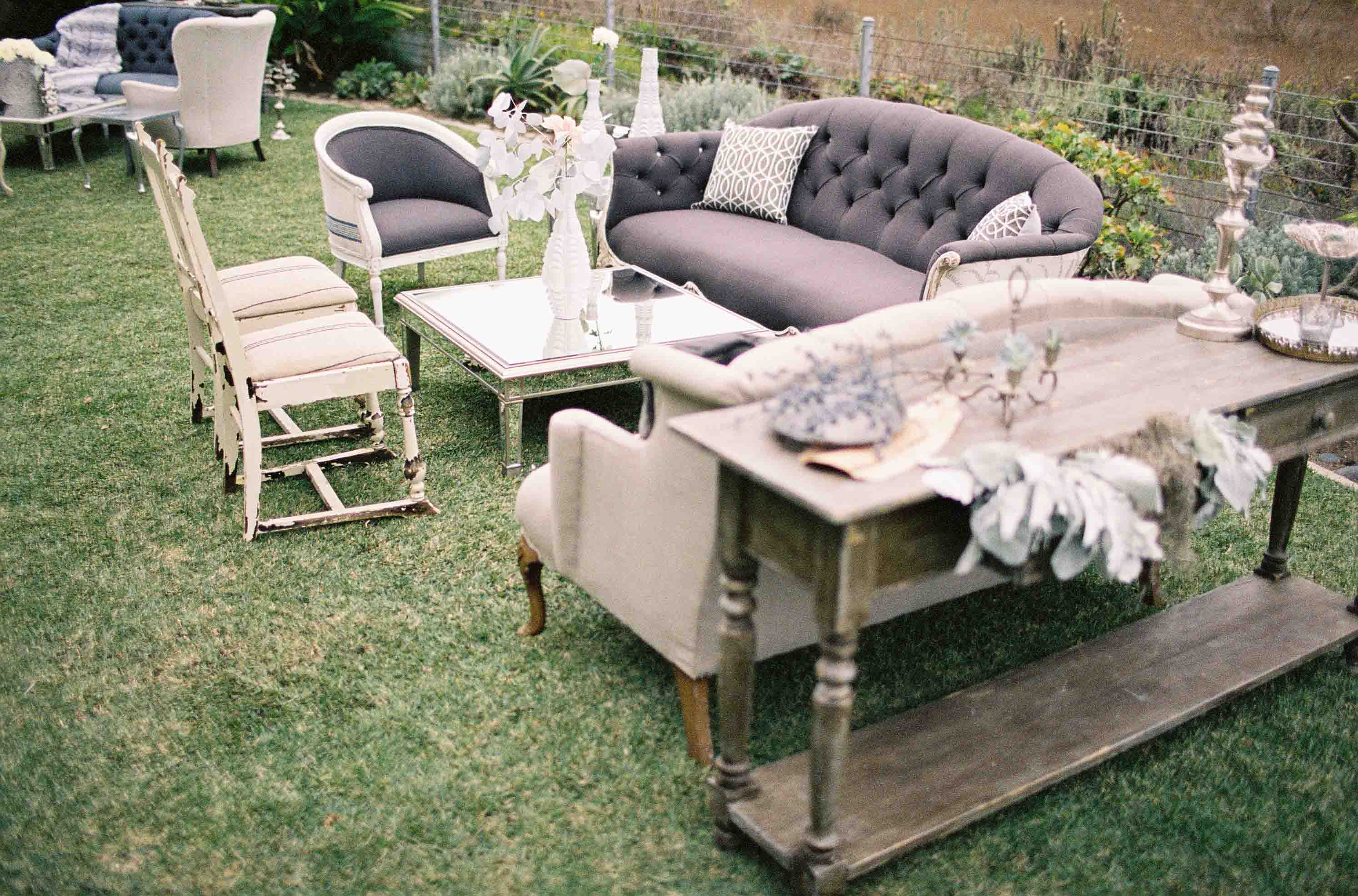 Canvas and Canopy wedding by Jose Villa with Found Vintage Rentals