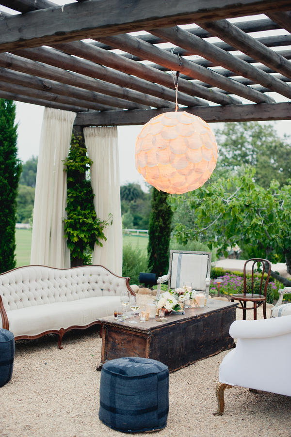 Santa Barbara Wedding with Found Vintage Rentals lounge grouping