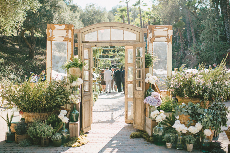 SoCal Rancho Las Lomas Wedding with Sargeant Photography, Inviting Occasion, and unique rustic doors from Found Vintage Rentals