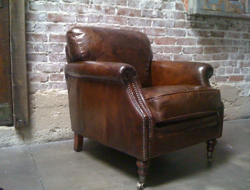 Pin It These Distressed Leather Club Chairs