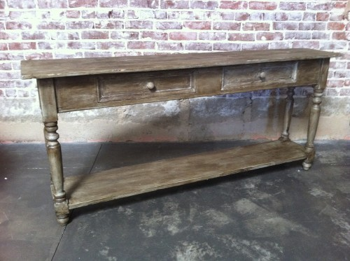 New Arrivals Sofa Table GreyLegged Farm Table Found Vintage