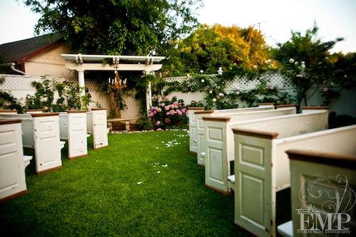 Backyard Rentals For Weddings backyard wedding celebration: laura & doug | found rentals
