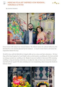 Oh Lovely Day Mexican Folk Art Inspired Vow Renewal with Found Vintage Rentals