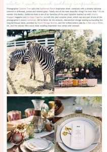 Exotic Ranch Wedding