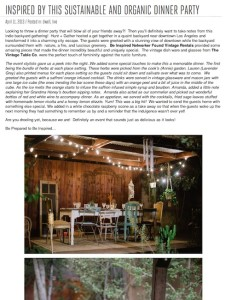Inspired by This-Sustainable and Organic Dinner Party with Found Vintage Rentals