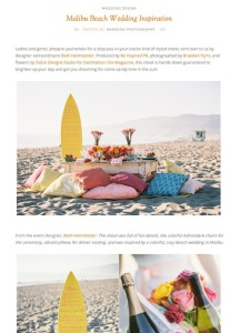 Ruffled Blog-Malibu Beach Wedding Inspiration with Found Vintage Rentals