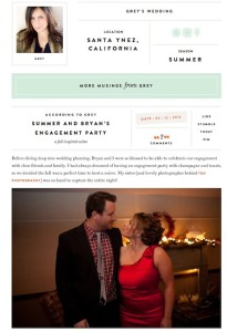 Grey Likes Weddings-Summer and Bryan's Engagement Party with Found Vintage Rentals
