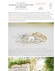 Grey Likes Weddings Estancia La Jolla Hotel and Spa Wedding with Found Vintage Rentals