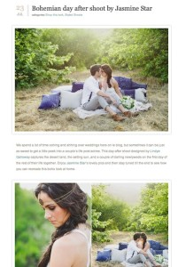 100 Layer Cake Bohemian Day After Shoot by Jasmine Star with Found Vintage Rentals