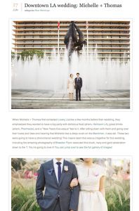 100 Layer Cake-Downtown LA wedding- Michelle and Thomas with Found Vintage Rentals