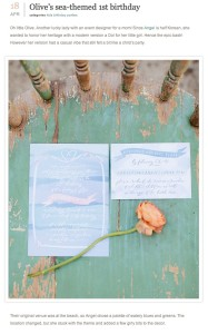 100 Layer Cakelet-Olives sea themed 1st Birthday with Found Vintage Rentals