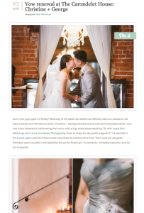 Green Wedding Shoes- Vow Renewal at The Cardondelet House with Found Vintage Rentals