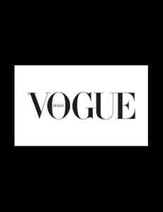 Vogue Italia Logo with Found Vintage Rentals