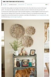 Style Me Pretty Home Tour From Found Rentals