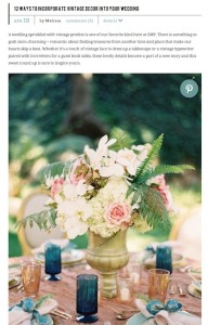 SMP-12 Ways to Incorporate Vintage Decor into your Wedding with Found Vintage Rentals