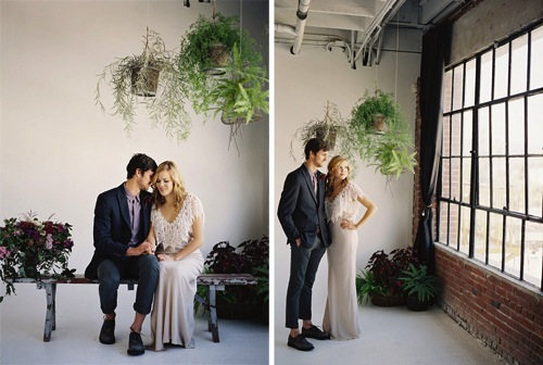 los-angeles-loft-wedding-shoot-foodie-found-vintage-rentals