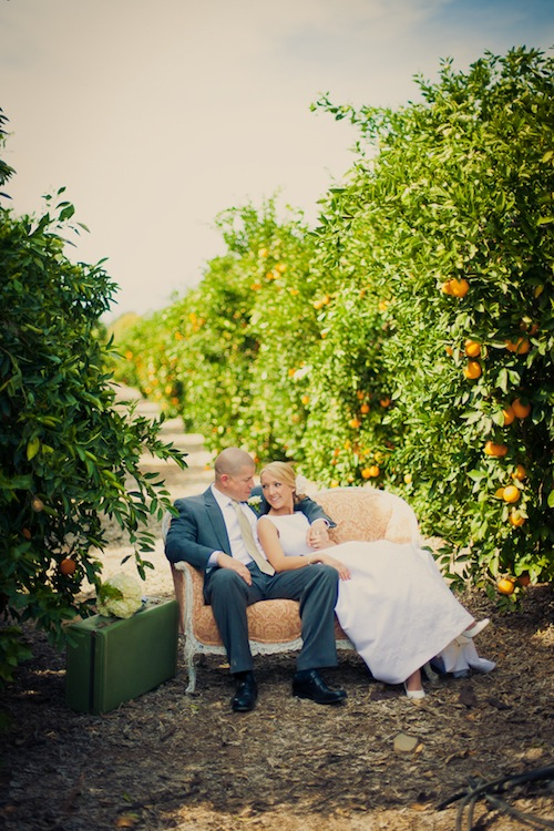 Orange-grove-outdoor-rustic-wedding-settee-peach