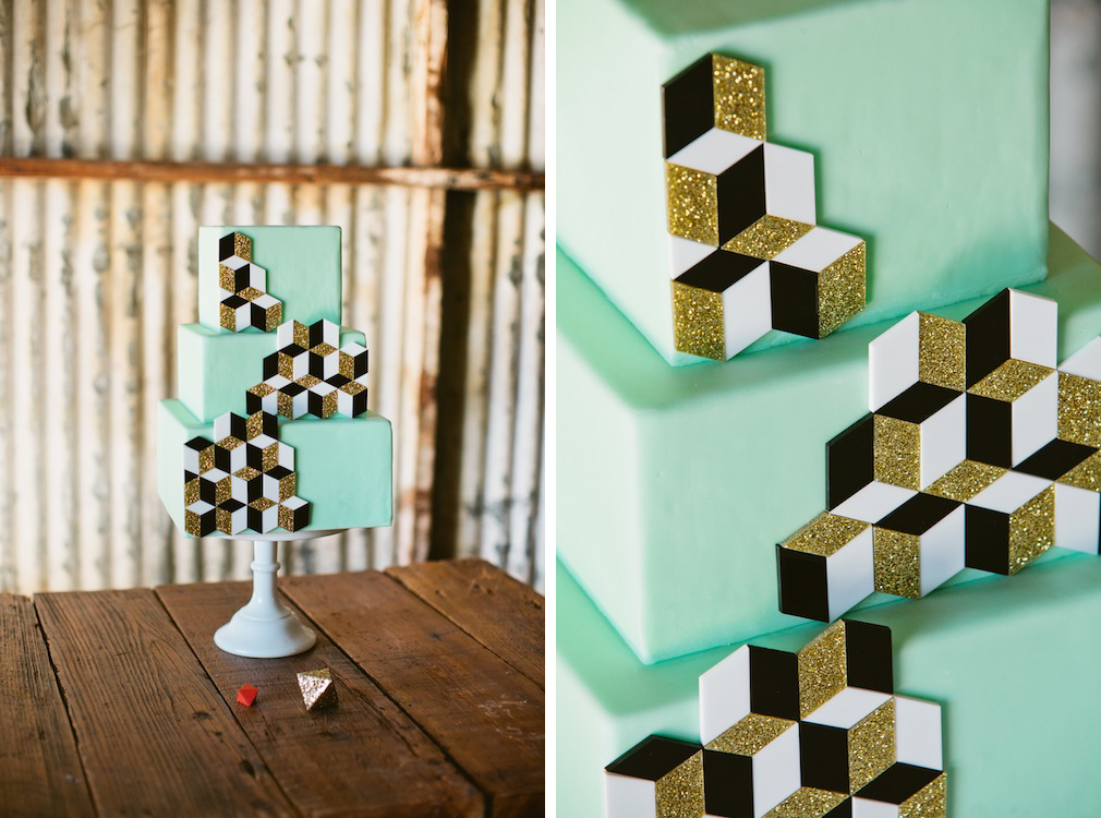 Modern Geometric LA Inspired Shoot with Little Cat Design Co., Scott Michael Photo, Found Vintage Rentals, Sweet and Saucy + Primary Petals