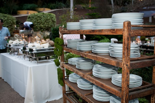 Backyard wedding by Chic Celebrations with Found Vintage Rentals