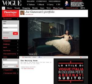 Vogue Italia-The Waiting Room by Joe Gunawan' with Found Vintage Rental