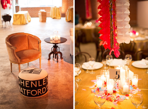 Colorful Carnival Wedding from Sarah Yates Photography, Bash Please, + Found Vintage Rentals at the Book Bindery