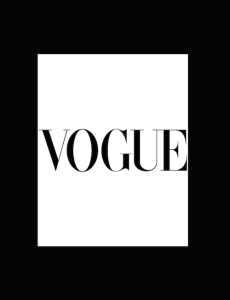 Vogue Logo with Found Vintage Rentals