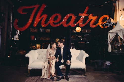 Big Daddy Antiques LA Wedding with Gather Events, Amy + Stuart Photography and Found Vintage Rentals