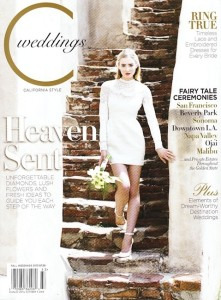 C Weddings Summer 2013 Cover with Found Vintage Rentals