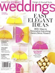 Martha Stewart Wedding Cover with Found Vintage Rentals