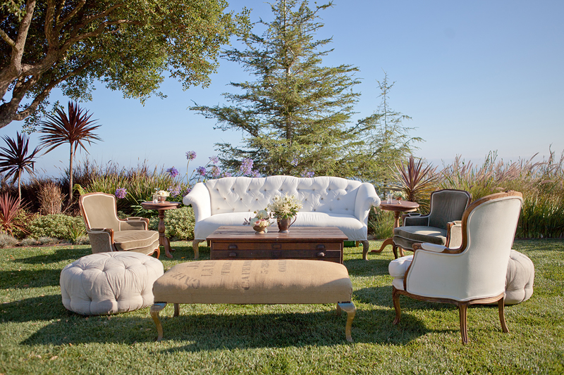 Malibu wedding with Found vintage rentals, Bash Please and Charley Star