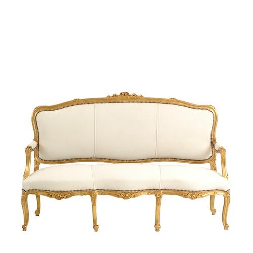 Gold White Velvet Couch After Found Vintage Rentals