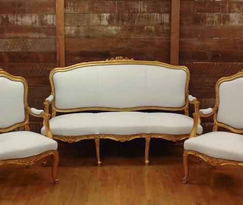 Found Vintage Rentals Velvet + Gold Gilded Lounge Vignette