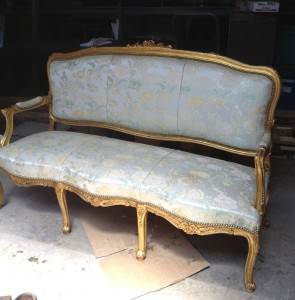 "Gold Couch - ""Before"""