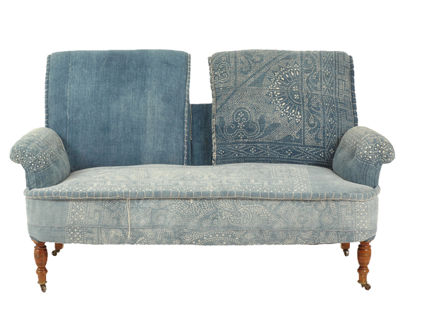 Found Vintage Rentals before and After Indigo Settee