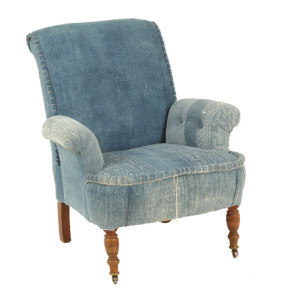 Found Vintage Rentals before and After Indigo Chair