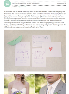 Love and Lavender Sweet and Innocent Love Styled Shoot with Found Vintage Rentals