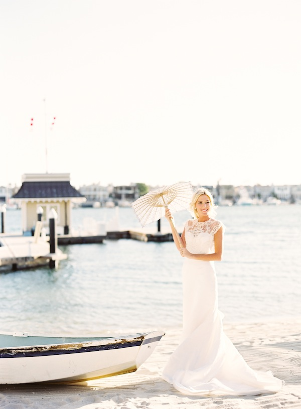 Destination I Do Sail Away with Me - Nautical wedding inspiration from Wedding Pr, Found Vintage Rentals, Lisa Gorjestani, JL Designs, and Jen Huang Photography