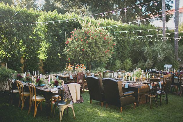 10Keltie-Knight-Rock-n-Roll-Boho-Wedding-Studio-Castillero-reception-tables