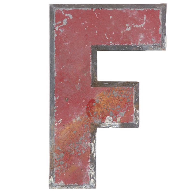 """Fowler Letter """"F"""""""