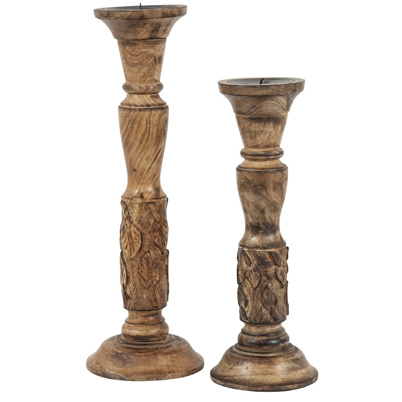 Baden Wooden Candlesticks (pair)