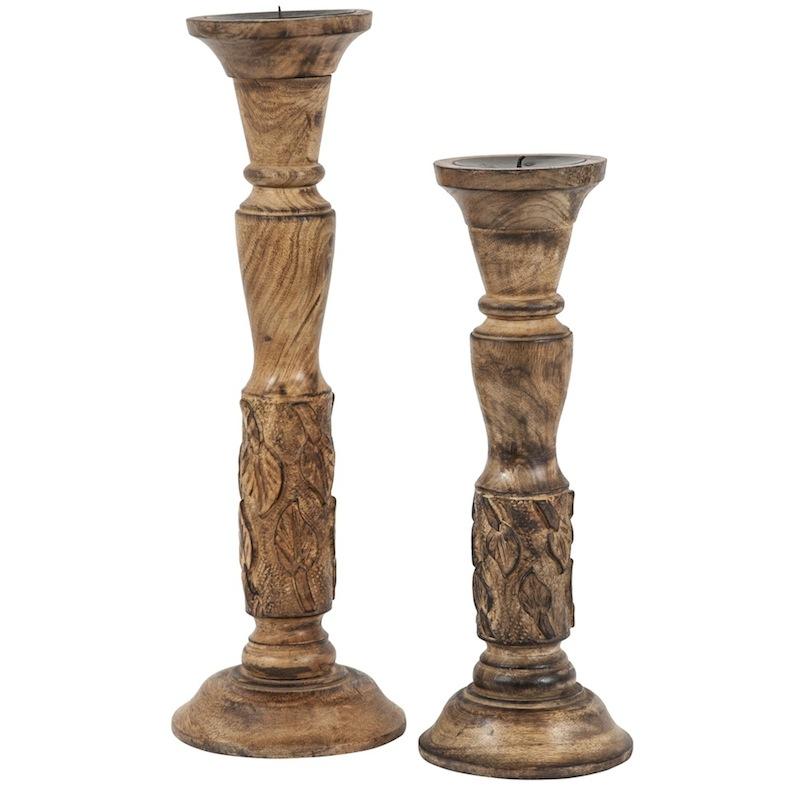 Baden Wooden Candlesticks (pair)