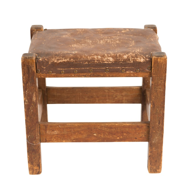 Beatty Leather Stool