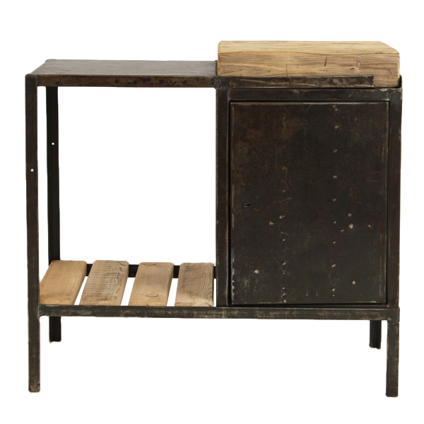 Kirkland industrial console table found vintage rentals for Sofa table kirklands