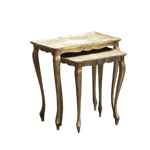 Howell Silver Nesting Tables (pair)