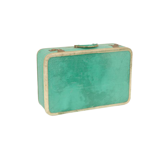 James Turquoise Suitcase