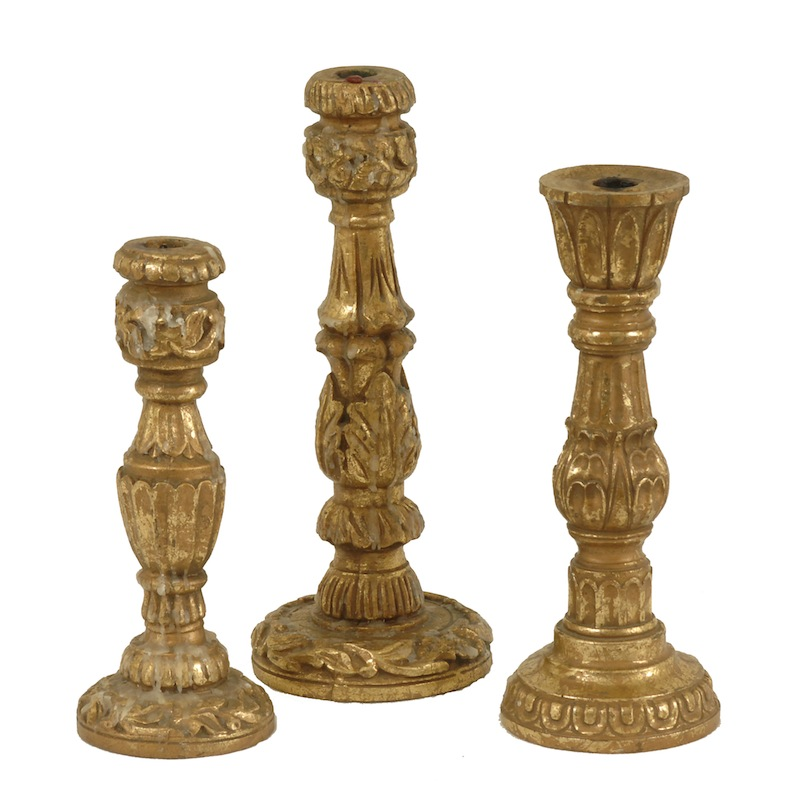 Beaudry Gold Candlesticks (set of 3)