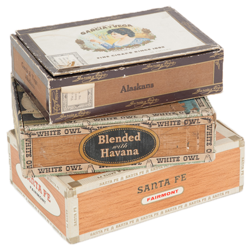 Grand Vintage Cigar Boxes (set of 3)