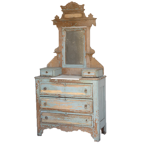 Eastlake Blue Dresser