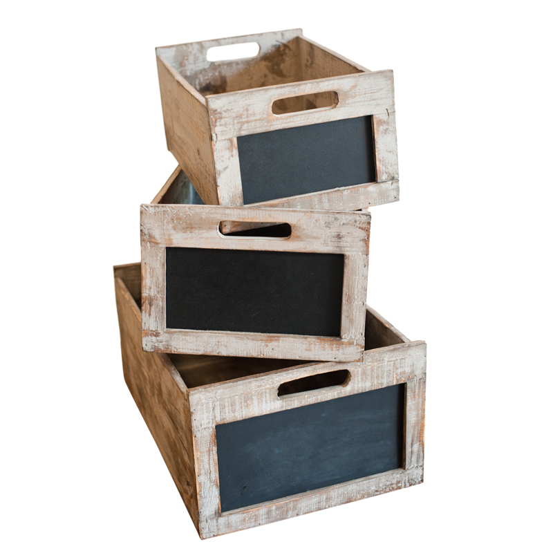 Fuller Chalkboard Boxes (set of 3)